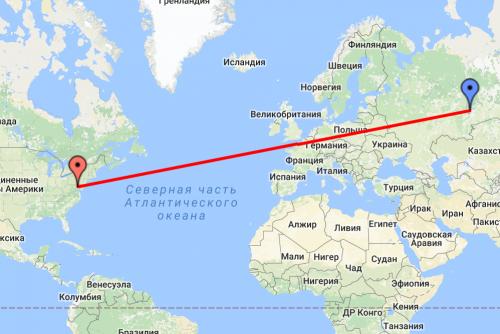 Схема перелета москва-пунта кана