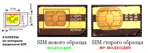 Как самостоятельно сделать из sim microsim