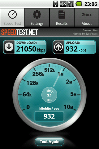 Speedtest android 4pda