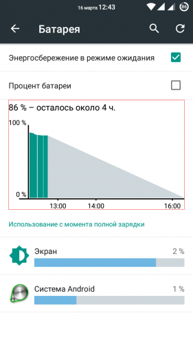 Как сделать отображение заряда батареи в процентах