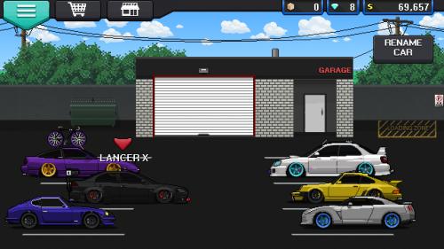 Pixel car racer настройка авто