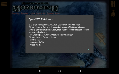 Morrowind Files For Openmw