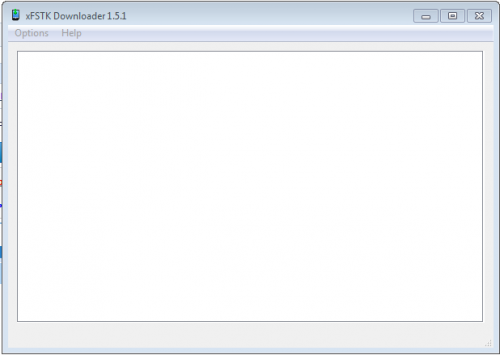 xFSTK Downloader пустое окно