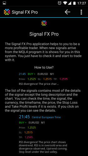 Signal FX Pro, Forex Signals - 4PDA