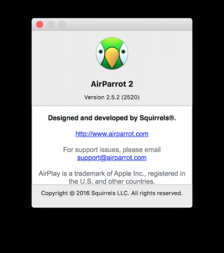 Airparrot Support